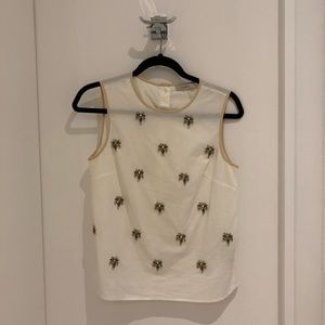 J Crew Embellished Tank Top. One size.